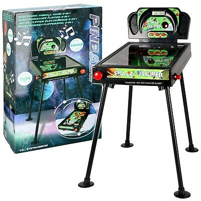 Space Flipper Machine Pinball Game with Lights and Music Arcade Style Console