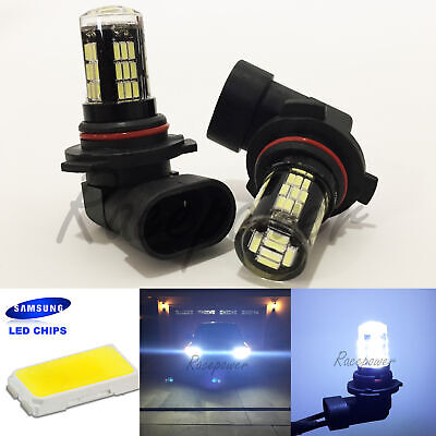 Crystal Hyper White Bulbs - 9005-HB3 Crystal Clear Glass LED 42-SMD White Headlight Lamp Bulb #Ra3 High Beam