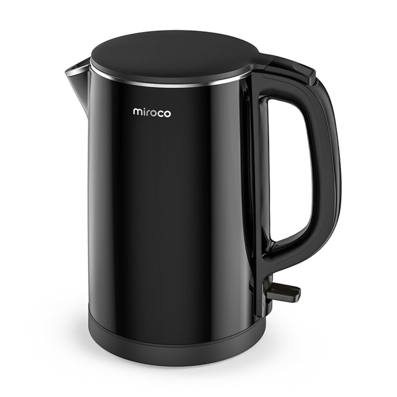 Miroco Electric Kettle Double Wall 100% Stainless Steel Cool Touch Tea Kettle