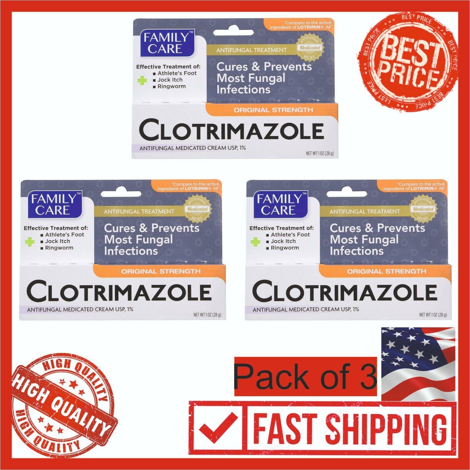 Family Care Clotrimazole Anti Fungal Cream, 1% USP Compare t