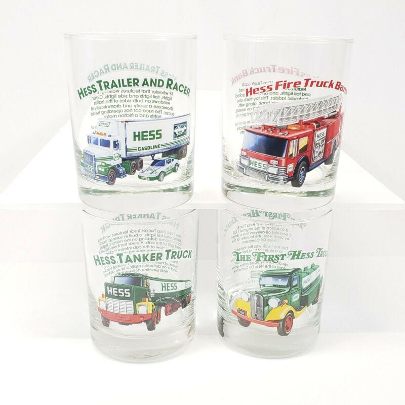 1996 Hess Trucks Collectible Glasses (4) Set