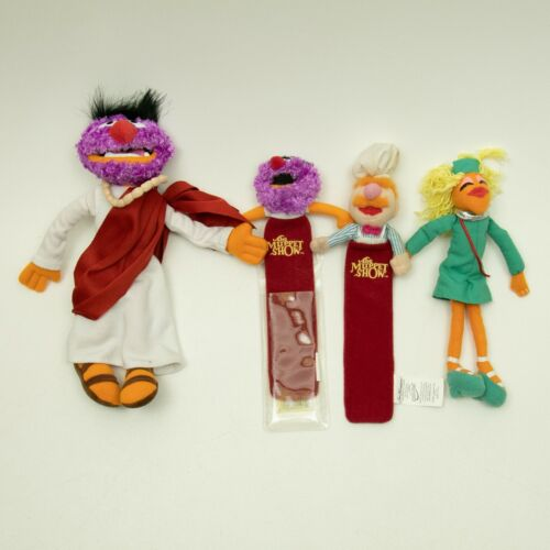 The Muppets Show Mini Set of 4 Puppets- Sababa Toys Jim Henson 2004 USED