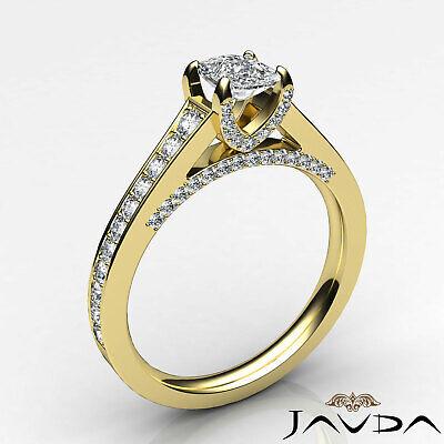 Bridge Accent Micro Pave Set Cushion Diamond Engagement Ring GIA H VS1 1.25 Ct 1