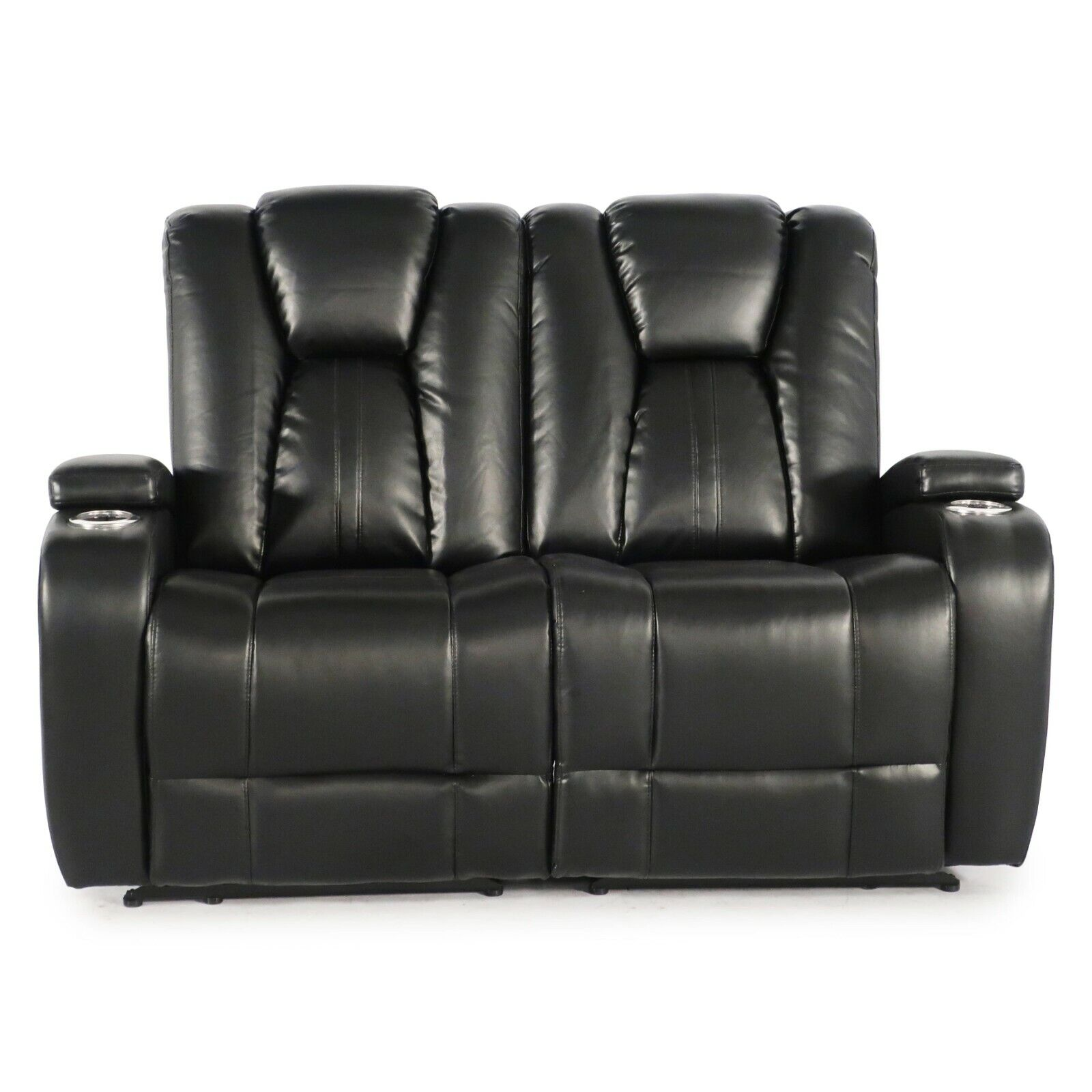 Seatcraft Innovator Black Home Theater Seating Loveseat Powe