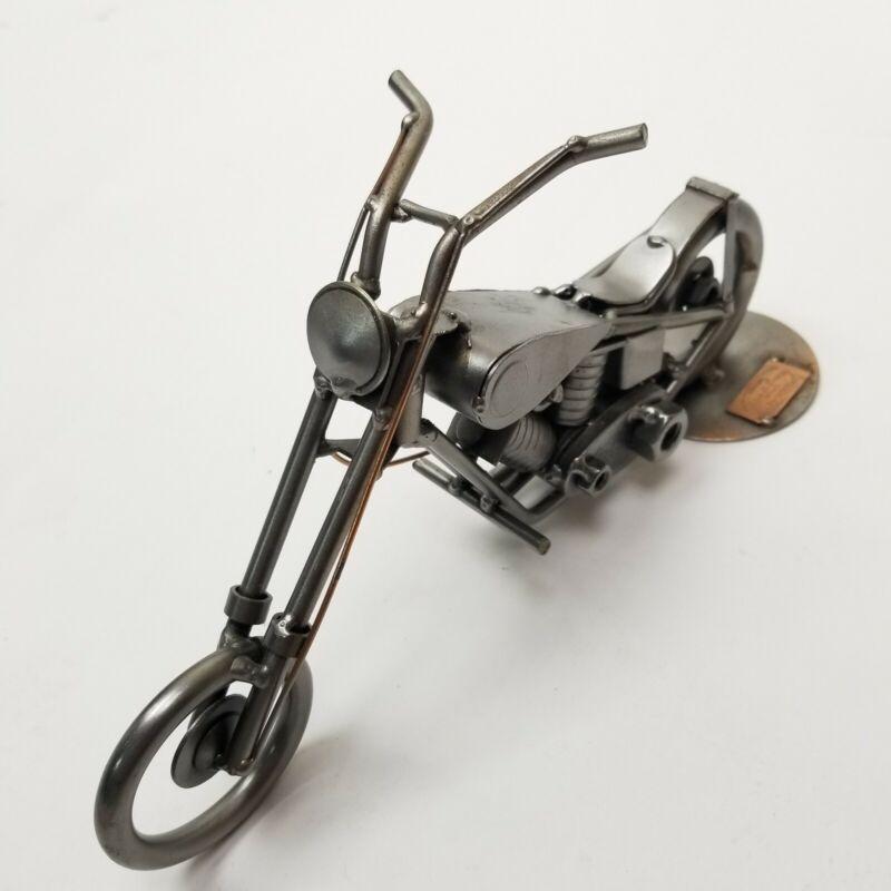 Hinz & Kunst Sculpture Nuts Bolts Motorcycle Das Original Germany Statue Metal