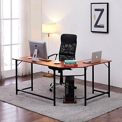 Home Office Desk L-shape Corner Computer Pc Latop Table Workstation Home Office