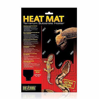 - Exo Terra Small 8 Watt Heat Mat 8x8 Glass Terrarium Substrate Heater PT2016