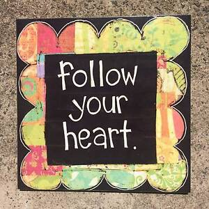 FOLLOW YOUR HEART WALL ART Pagewood Botany Bay Area Preview