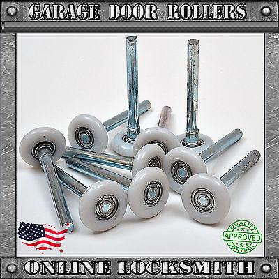 (Garage Door Rollers Nylon Wheel Heavy Duty Quiet 11 Ball Bearing 4
