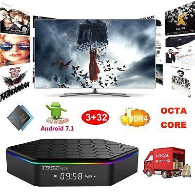 3+32GB DDR4 T95Z Plus Amlogic S912 Android 7.1 Octa Core Smart TV BOX 4K HDMI