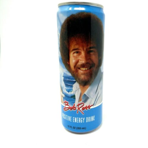 Bob Ross Positive Energy Drink Collector Can Rare Inspiration Or Drinkable