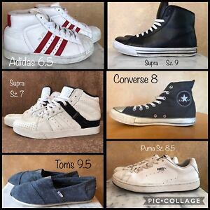 Men's shoes Adidas Supra Converse, Toms & puma 6.5, 7, 8, 8.5, 9