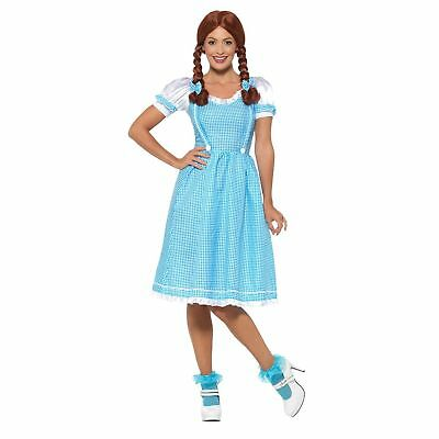 Kansas Country Girl Dorothy Wizard of Oz Story Book Womens Fancy Dress Costume](Girl Wizard Costume)