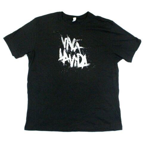 Coldplay Viva La Vida Logo Concert Tour T-Shirt - Ten Apparel - Black - 2XL