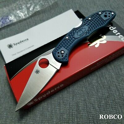 Spyderco Delica 4 K390 Flat-Ground Blue FRN C11FPK390