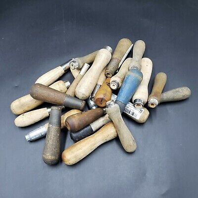 Mixed Lot of 24 Wood File Handles Boeing & Military Surplus Aircraft Tools