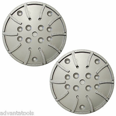 2pk 10 Concrete Grinding Head For Edco Blastrac Grinders - 20 Seg 5060 Grit