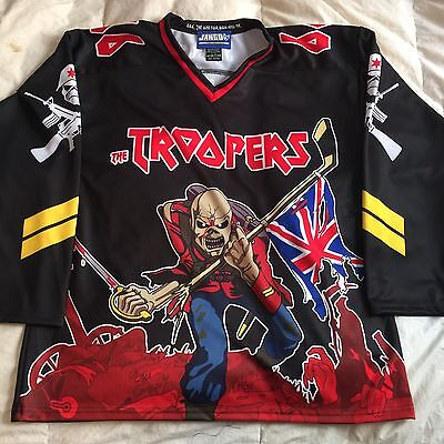 Custom Iron Maiden Eddie Hockey Jersey 666 The Beast Small Black