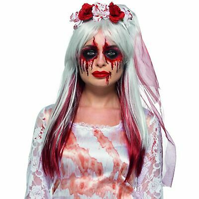 Adult Ladies Blood Drip Gothic Zombie Bride Face Paint SFX Makeup Kit Halloween - Halloween Face Paint Zombie Bride