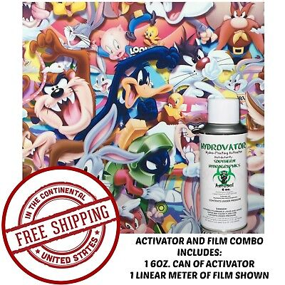 Hydrographic Film Water Transfer Hydro Dip 6oz Activator With Looney Toony Kit