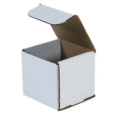 50- 4x4x4 White Corrugated Carton Cardboard Packaging Shipping Mailing Box Boxes