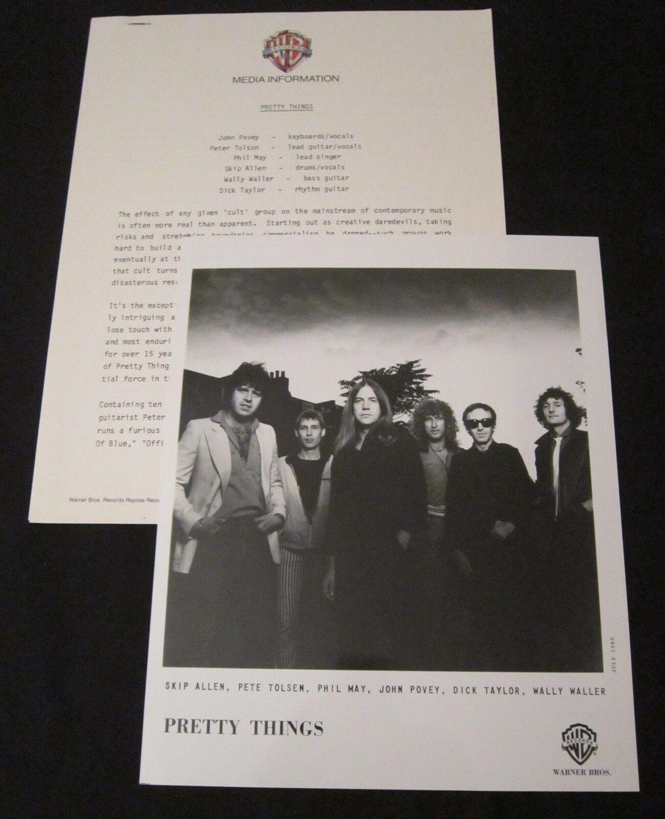 The pretty things 'cross talk' 1980 press kit--photo