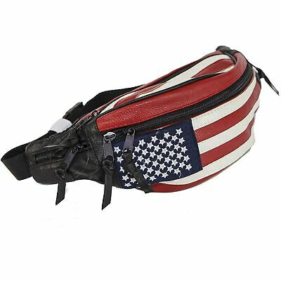 USA Flag Fanny Pack Stars & Stripes Belt Bag Travel Purse Waist Bag Real -