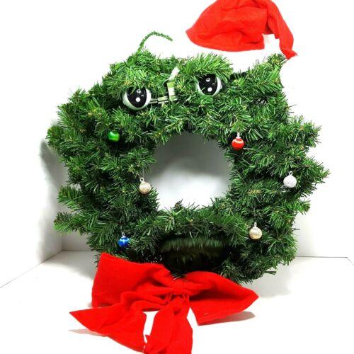 "Vintage Gemmy Original Talking Wreath 20"" Animated Christmas Holidays Prop 1997"