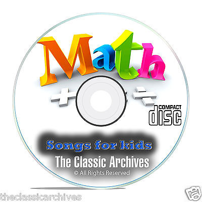 Childrens Math Singalong Songs  Learn Times Tables Improve Multiplication Cd E83