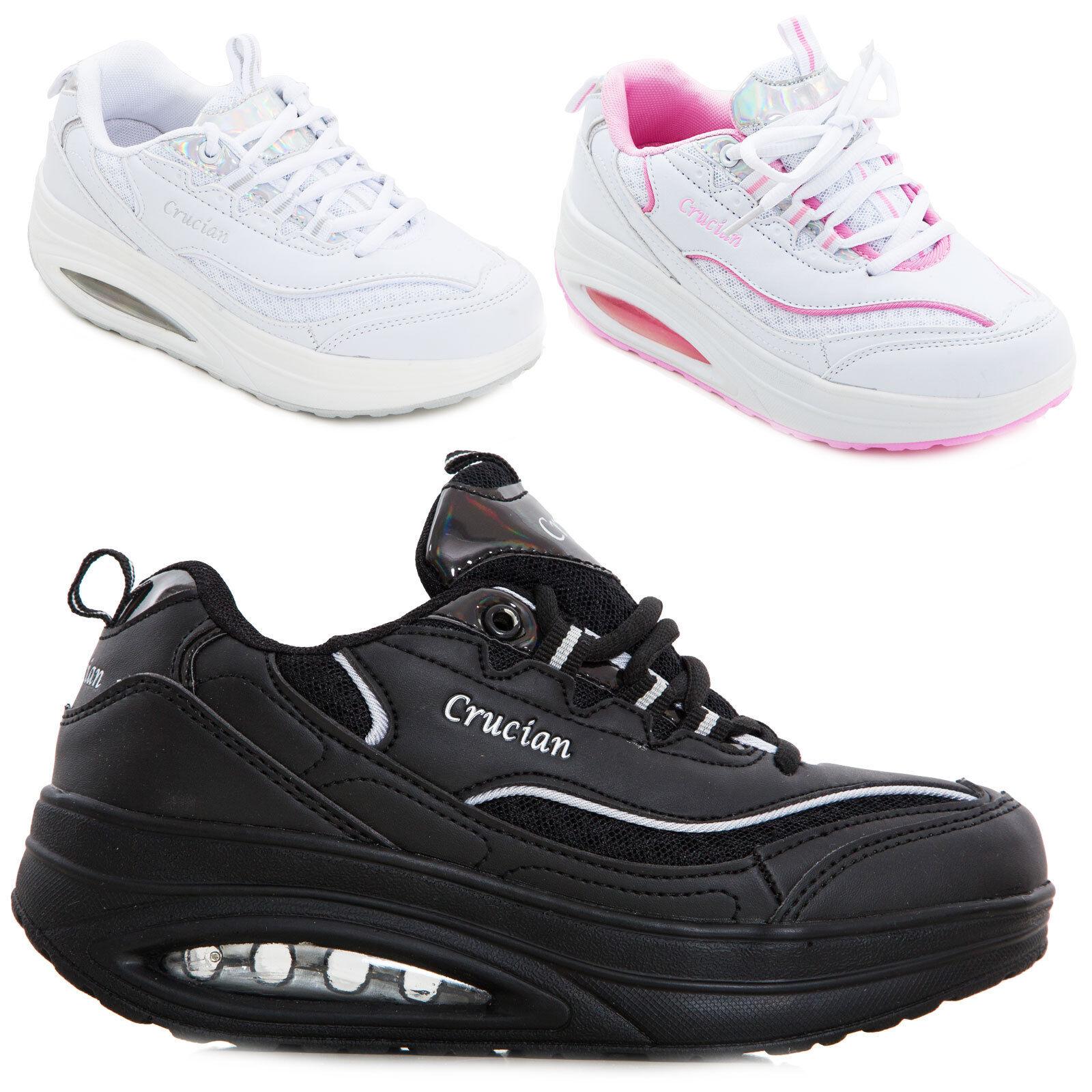 Dettagli su Scarpe donna sneakers sportive sport ginnastica dimagranti rassodanti W2830