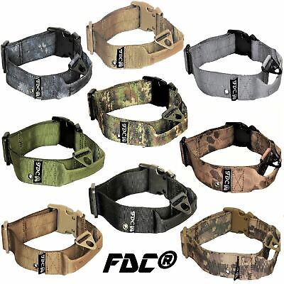 Plastic Dog Collar (Tactical Dog Collar Heavy Duty Working Training With Handle Plastic Buckle)