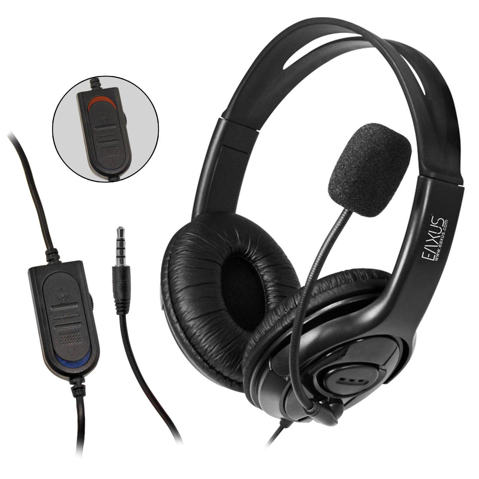Gaming Headset PS4 Playstation 4 Computer Stereo Sound Eaxus kabelgebunden 3,5mm