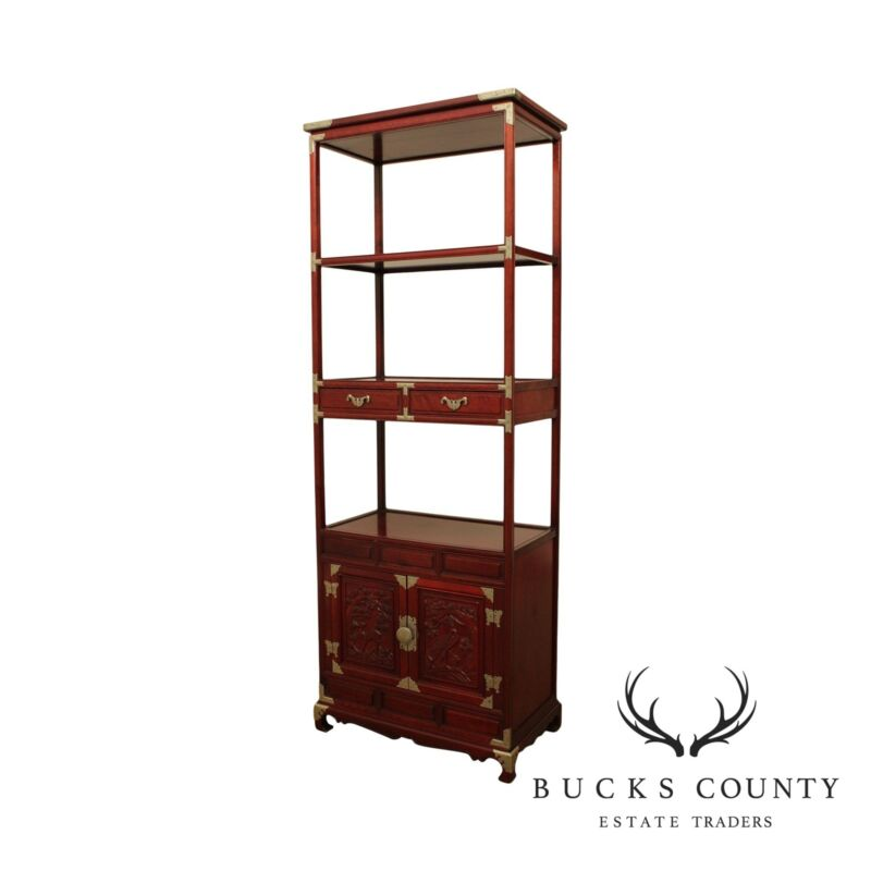 Chinese Rosewood Vintage Etagere