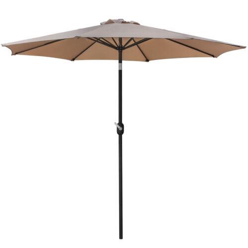 9FT Waterproof Patio Umbrella with 8 Sturdy Ribs Outdoor Garden Table Umbrella Garden Structures & Shade