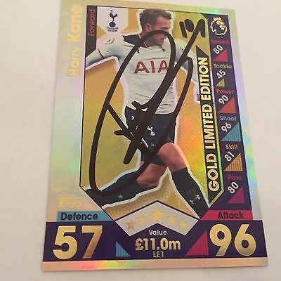 match attax 16 17 signed HARRY KANE TOTTENHAM LIMITED EDITION SIGNED -