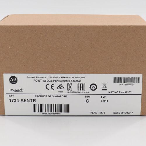 New Allen-Bradley 1734-AENTR POINT I/O Dual Port Adaptor Factory Sealed US Stock