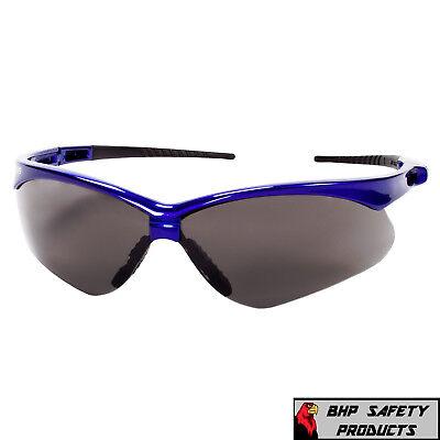 Jackson Nemesis Safety Glasses Smoke Anti-fog Lensblue Frame Sunglasses 47387