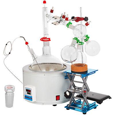 Short Path Distillation Kit With 5000ml Heating Mantle 2440 Essential Oil Steam