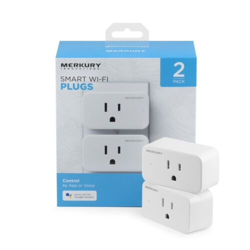 Smart Plug, 2-Pack, Alexa, Google, smartphone, app.