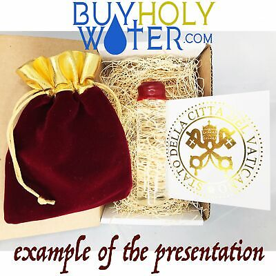 25mL Holy Water Vial Authentic Blessed By Pope Hand Made Numbered Limited. - $21.87