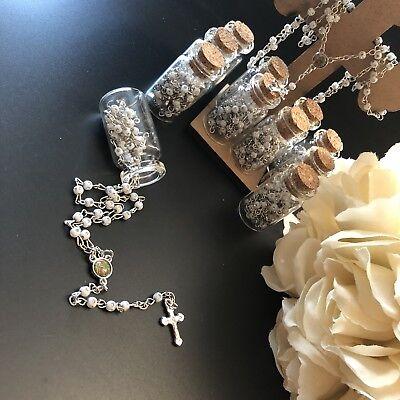 Baptism Rosary Favors Wedding Pearl Rosary Recuerdo Bautizo Rosario Quinceanera](Quinceanera Favors)