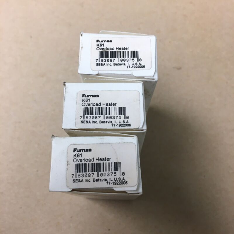 Furnas K61 Thermal Unit Overload Heater Heat Coil Lot Of 3 New In Box Siemens