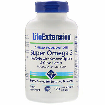 Omega Foundations, Super Omega-3, 120 Enteric Coated Softgels
