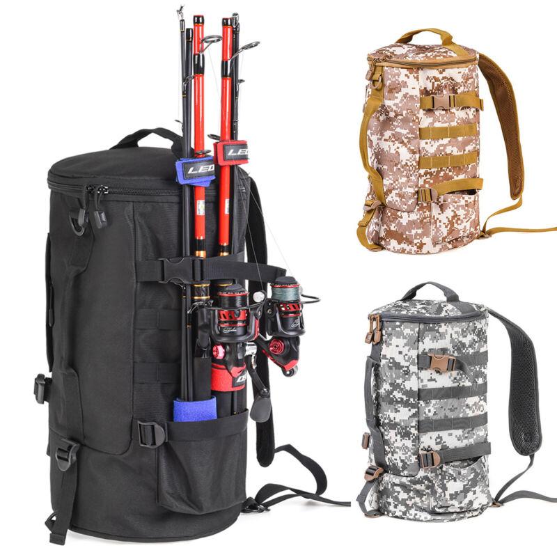 23L Water-Resistant Fishing Tackle Backpack 1000D Outdoor Camping Shoulder Bag