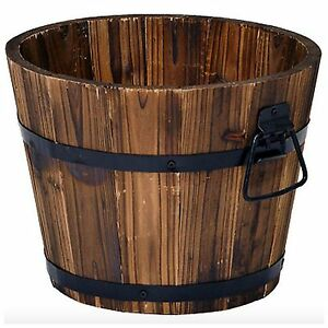 Wooden flower pots ebay - Wooden flower pot designs ...