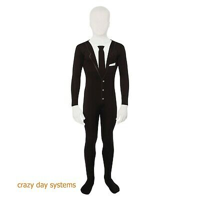 Slenderman Morphsuit - Child Costume Size 8 10 12 14 16 Haunter NWT
