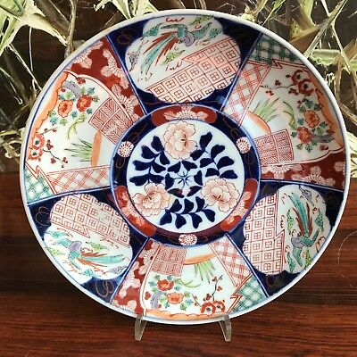 Antique Imari Plate Ø 21,5cm Japan, Hand Painted