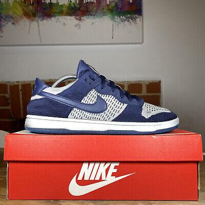 Nike Dunk Low Flyknit Blue/White UK SIZE 10.5