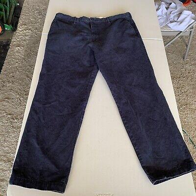Navy Colored Dockers Pants 40 X 32 Flat Front Cotton Pants