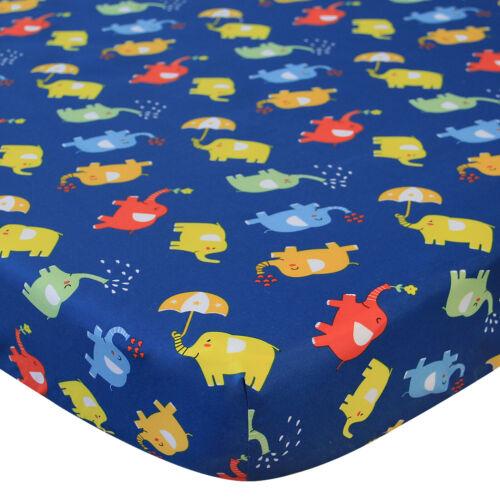 "Pack N Play Sheets Fitted Portable Playard Mini Crib Sheets Elephant 39""x27"""
